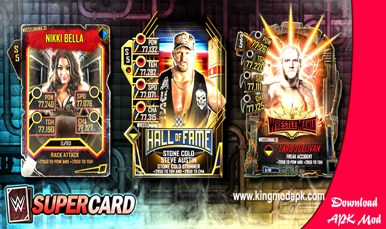 WWE Supercard Mod APK + Hack + unlimited credits Free Download